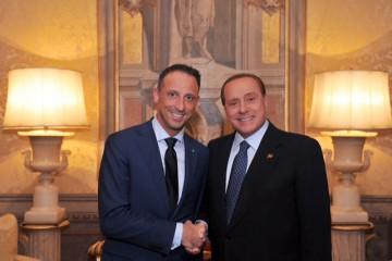 L'incontro fra Silvio Berlusconi e Alessandro Santini