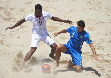 Espinho, Portugal -  July, 9: Fifa Beach Soccer World Cup Portugal 2015 at Praia da Bahia on July 9, 2015 in Espinho , Portugal. (Photo by Lea Weil