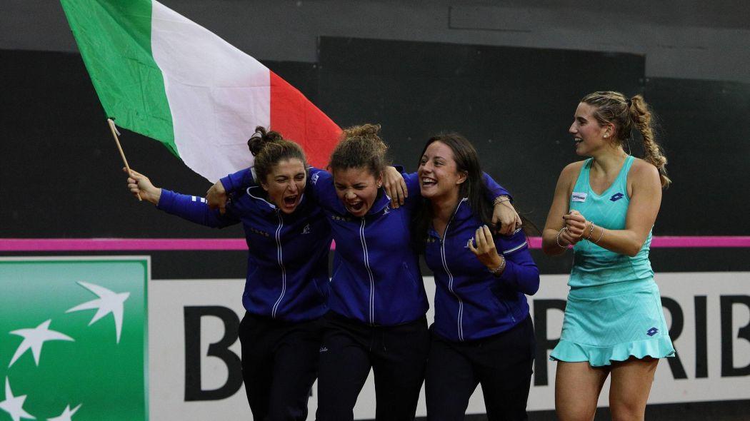 Fed Cup, errani crolla nel secondo set. Il Belgio batte l'Italia 3-0